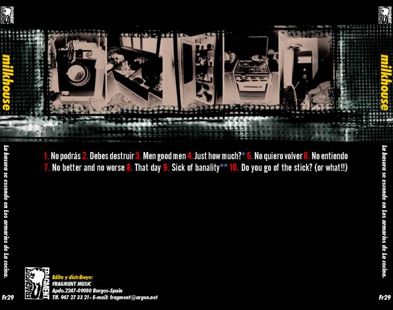 ▲ MILKHOUSE CD. CONTRA PORTADA.