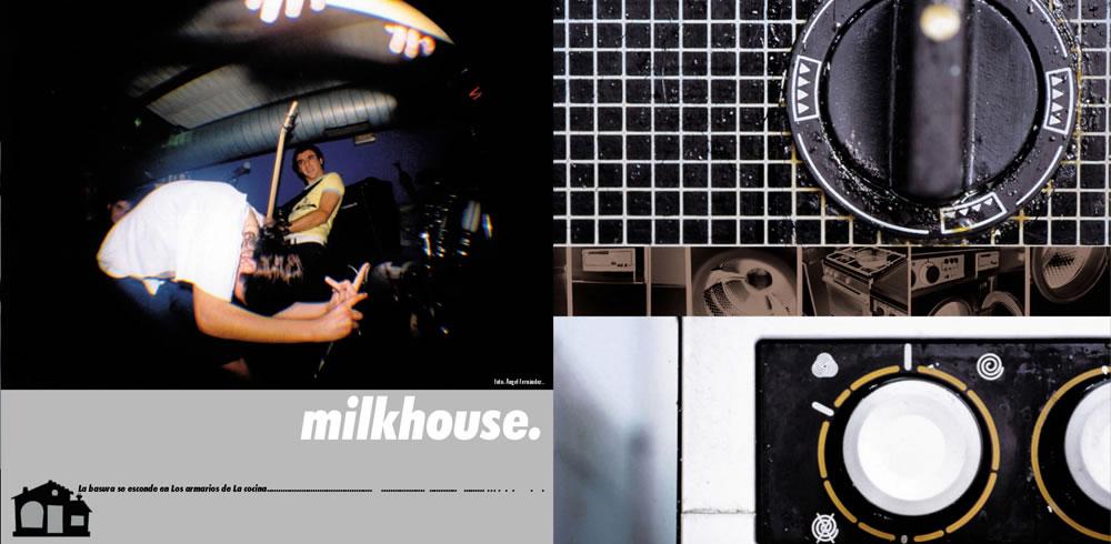 ▲ MILKHOUSE CD. INSERT.