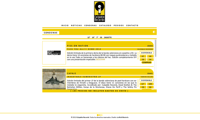 ▲ CULPABLE RECORDS WEB.